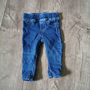 2/$15 Carter's skinny jeans size 12 m